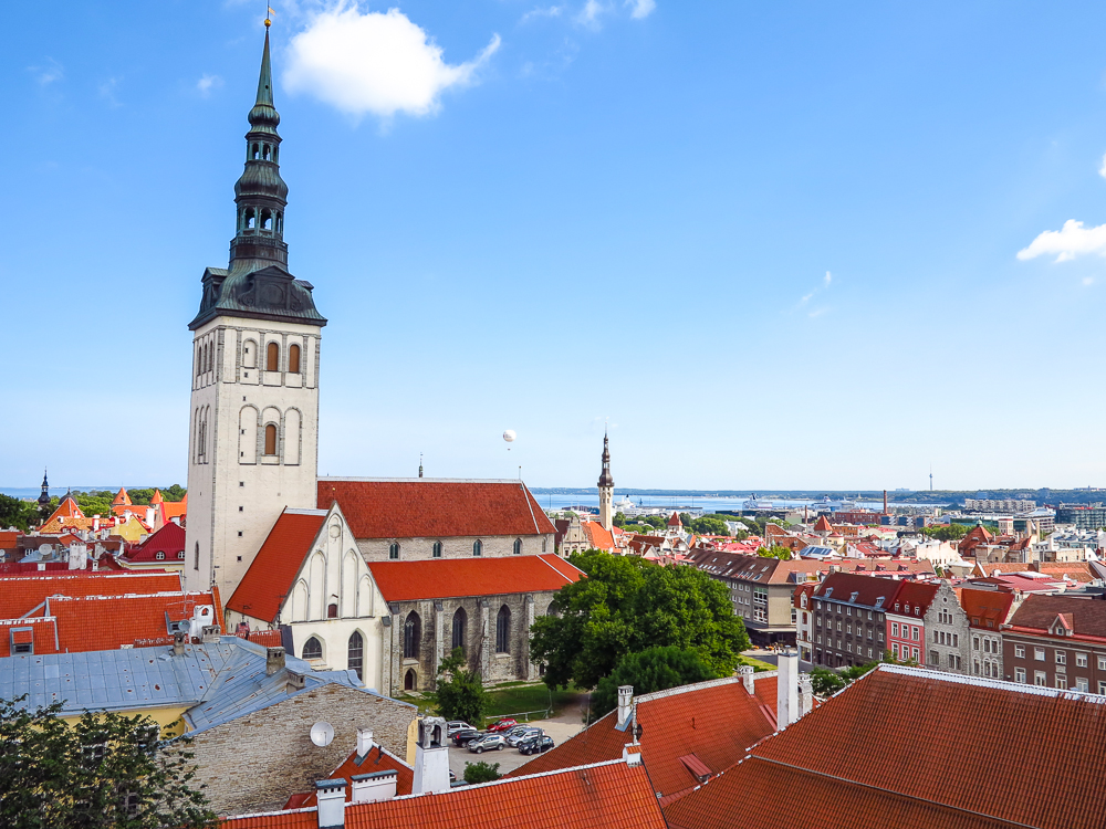 Lower Old Town from Toompea Hill