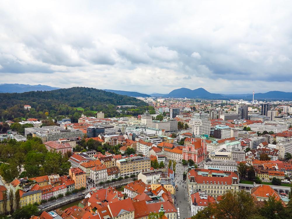Ljubljana from Castle Tower
