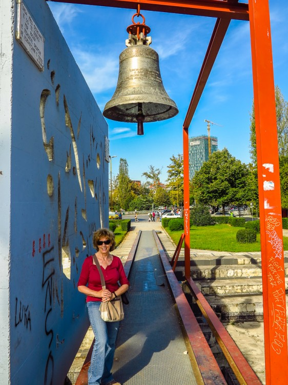 Irene at Peace Bell
