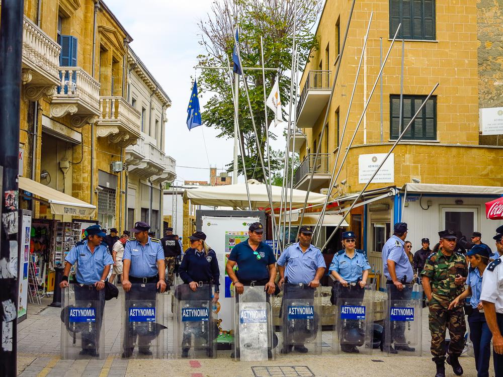Police at Boder