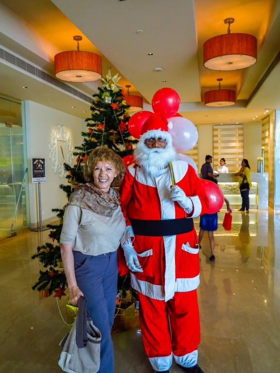 Irene with Santa